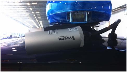 Vivotek IP8332 kamera rendőrautón
